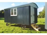 Shepherds hut with bed