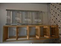Shelving Unit, birch, MOLGER IKEA 37x140cm, £20