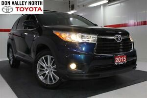 2015 Toyota Highlander XLE AWD Sunroof Nav Heated Lther Seats Bt