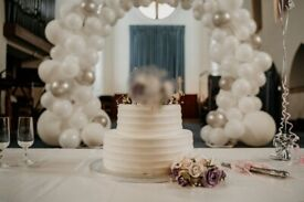 Free Standing Circular Wedding Arch Flowers or Balloons Used