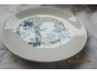 """VINTAGE SWINNERTONS STAFFORDSHIRE 7"""" CHINA PLATE WHITE WITH BLUE FLORAL PATTERN"""