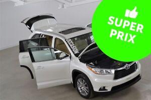 2014 Toyota Highlander XLE V6 4WD GPS+Cuir+Toit+Camera Recul 8 P