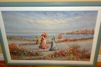 Large, Original, Beautiful Beach Scene Painting