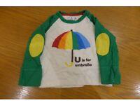 Little Bird by Jools Oliver baby umbrella-print t-shirt size 9-12 months
