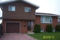 1800 sq feet, side split, 3 + 1 Bedroom, in River Heights