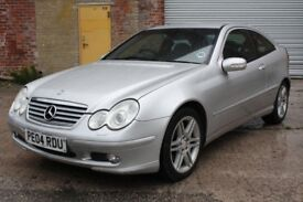 2004 MERCEDES BENZ C320 SE 218 BHP AUTO, COUPE, ONLY 94K, SERVICE HISTORY, LONG MOT, CHEAPEST AROUND