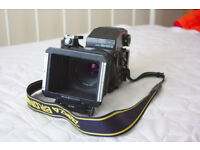 Bronica ETRSi medium format film camera with Metz flash and other extras