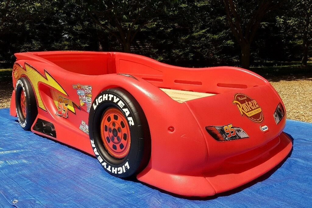 Disney Cars Lightning McQueen Sports Car Twin Bed by ...