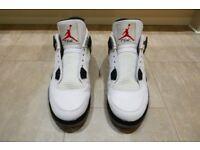 UK9 Nike Air Jordan 4 IV Retro White Cement 2012 edition UK9 - Near MINT condition BARGAIN PRICE