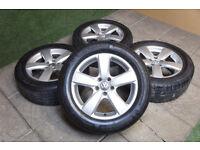 """Genuine Volkswagen Tiguan 17"""" Alloy wheels & Tyres 5x112 VW Audi Q3 Golf Passat"""
