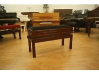 Top quality piano bench. Adjustable and music storage