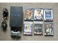 Console Sony PS2 with 6 games