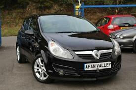 VAUXHALL CORSA SXI A/C **LONG MOT AND SERVICE INCLUDED IN PRICE** (black) 2007