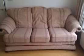 Large 3 Seater Sofa and 2 Armchairs Set
