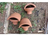 Terracotta Chimney Vent Cowl x 3