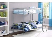 *=5-DAYS MONEY BACK GUARANTY=*NEW HIGH QUALITY METAL BUNK BED! WITH METAL MESH FOR THE BASE