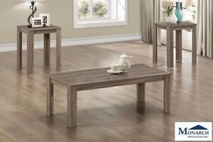 Dark Taupe 3PC Coffee Table Set