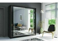 💥💯HUGE SUPER DISCOUNT ON 2 DOOR SLIDING WARDROBE WITH FULL MIRRORS ALL SHELVES & RAILS INCLUDED