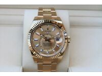 Yellow Gold Annual Champagne Stick Sky Dial Dweller