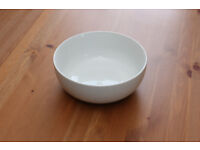 Two white ceramic fruit or salad bowls (£2.50 each)