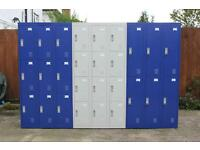 6, 9 & 12 Door Metal Lockers in Ultramarine Blue or Light Grey - **New stock just arrived **