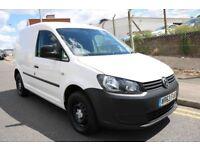 2013 63 Volkswagen Caddy 1.6 TDI 102 BMT White Van Turbo Diesel NO VAT