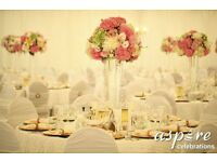 ***WEDDING & VENUE DECORATION –CENTREPIECE HIRE Tel:02084234330 or 07904938852 ***