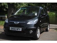 Hyundai i10 1.2 automatic black, super cheap 60p per litre fuel LPG, brand new MOT passed today