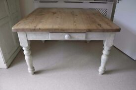 Large Square French Country Pine Farmhouse Table
