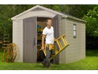 KETER Factor 8ft x 11ft(2.56m x 3.31m x 2.43m) SHED, CHEAPEST in UK ! NEW SEALED !!