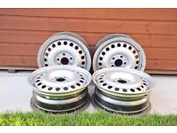 4 steel wheels to fit transit connect 02 - 13 . genuine ford wheels
