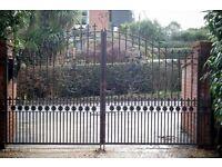 Solid Black Wrought Iron Gates