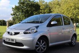 2008 08 Toyota Aygo Platinum, AIR CON + LEATHER + 1 lady owner + full service history + 2 KEYS