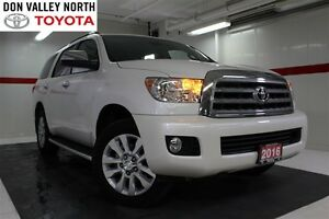 2016 Toyota Sequoia Platinum 4WD Sunroof Nav Btooth Heated Lthr