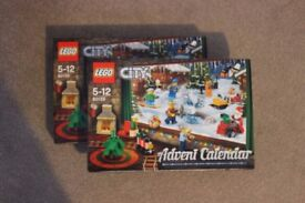 2 x Lego City Advent Calendars 2017, Brand New, Sealed, Unopened £17 each