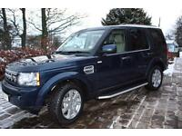 Landrover Discovery 4 2010 (60) XS 3.0 Navy Blue Cream leather 67,600 HG3