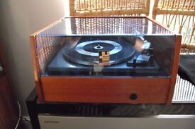 garrard sp25 turntable and plinth with dust cover and shure cartridge
