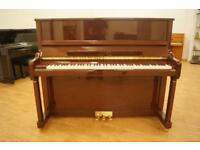 Kayserburg Upright Piano. Brand new in walnut. Tuned & UK delivery available