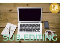 Sub-editor at The Upcoming: proofreader, sub-editing, subeditor, copy editaor, proofreading
