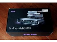 Avid Mbox Pro and Pro Tools 9 software (free upgrade to v.10 is apparently included)