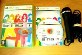 Xbox 360 Sing it karaoke Singing Game and USB Microphone Bundle