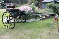 All metal horse Cart