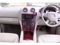 Mercedes ML320 Auto in Silver with Full Light Grey Leather