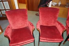 4 Red Parker Knoll Chairs in excellent condition