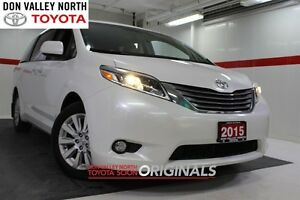 2015 Toyota Sienna XLE AWD Heated Lthr Nav Sunroof Btooth BU Cam