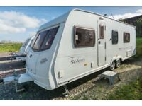 Lunar Solaris 2 - 2006, 4 Berth, Tag Axle Caravan Fixed Bed, End Washroom