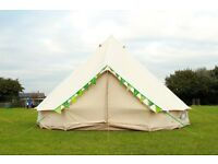 5m bell tent - used twice - soul pad