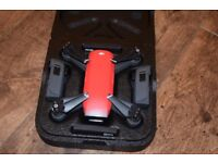 DJI Spark Fly More Combo Camera Drone (Red)