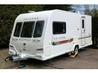Bailey Unicorn Seville 2012 two berth touring caravan, ONE DAY ONLY £9500 PRICED TO SELL NO OFFERS!!