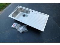Franke Bello Nova Stainless Steel Sink - Righthand Drainer